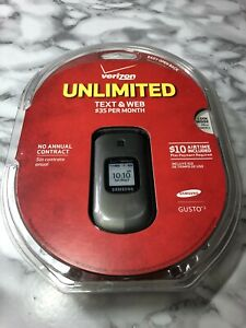 Samsung Gusto 2 SCHU365HPP Charcoal Gray (Verizon) Cellular Phone Unlimited NEW
