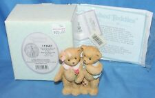 Cherished Teddies Our Love Is Shown With Hugs & Figurine # 113687 2003 By Enesco
