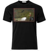 Cave Graffiti Banksy - Graphic Cotton T Shirt Short & Long Sl
