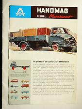 Prospectus  camion  HANOMAG Markant  Diesel   non daté   catalogue  brochure