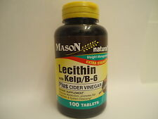 100 tabs Extra Strength LECITHIN KELP B6 APPLE CIDER VINEGAR Weight Control