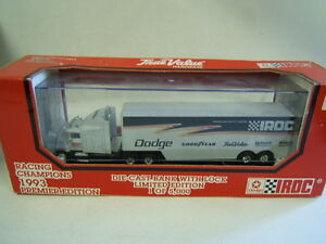Racing Champions Dodge Iroc 1993 Limited Edition Transporter Truck MIB 1/64