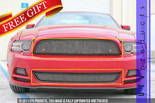 GTG 2013 2014 Ford Mustang V6 2PC Black and Chrome Combo Mesh Grille Grill Kit