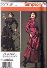 Victorian Steampunk Arkivestry Dress Jacket Skirt Bustle Pattern Size 6 8 10 12