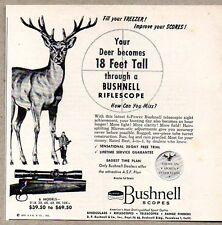 1954 Print Ad Bushnell Rifle Scope Hunting Scopes Pasadena,CA