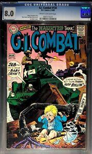 G.I. Combat #134 (1969) - CGC 8.0 - Haunted Tank, Great Kubert Cover!