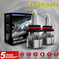 8-Side 9006 LED Headlight Mini CSP HB4 Bulbs Kit 2200W 480000LM Fog HID Lights C
