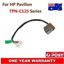 Original HP Compaq Pavilion TPN-C125 DC Power Jack Port Socket w/ Cable Harness