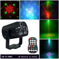 Laser Stage Light LED RGB Mini 60 Pattern DJ Disco Party KTV Projector Lighting