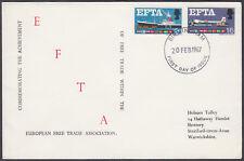 1967 EFTA scarce design FDC; Birmingham FDI