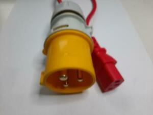 110V Adapter for PAT Testing 16a Plug to IEC C13 Female 110 Volt
