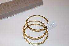 Silpada K & R Trend Trilogy Gold Hammered Brass Bangles Bracelet Set 3 KRB0038