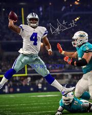 """Dak Prescott NFL Reprint SIGNED 8x10"""" Photo #1 RP the Dallas Cowboys QB #4"""