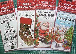 Christmas Money Gift Card Wallet  Kids  SON/DAUGHTER/GRAND KIDS + Santa Letter