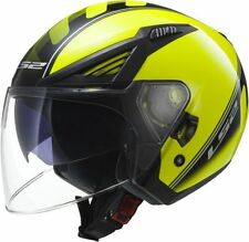 Cascos jet color principal amarillo talla XS para conductores