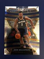 2019-20 Panini Select Basketball Zion Williamson Base RC Concourse - Pelicans