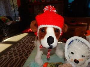 Med RED HAT with White trim and Pom Pom on top