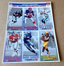1993 MCDONALD'S NFL SET OF 3 CARD SHEETS A,B, & C ELWAY SANDERS MARINO RICE SEAU