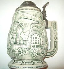 Millennium 1000 Years of History Collectors Ceramic Stein by Avon Made in Brazil