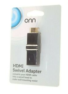 ONN HDMI SWIVEL ADAPTER CONVERTS HDMI CABLE INTO SWIVEL HEAD FOR WALL MOUNTING