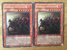 2 X Infernal Incinerator Yugioh Trading Cards DP2-EN009 1st Edition