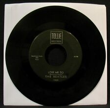 THE BEATLES-Love Me Do & P.S. I Love You-Rare Black/Silver Label 45-TOLLIE #9001