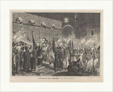 The moharremfest the Persian to Constantinople Istanbul Islam Wood Engraving E 1.