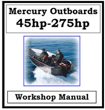MERCURY OUTBOARD 1976 - 1997 45hp - 275hp WORKSHOP MANUAL ON CD OR DOWNLOAD