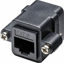 CAT 6 Patch Kupplung Verbinder LAN Koppler Schraubversion CAT.6 2x RJ45 Kupplung