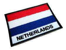 Netherlands Holland Dutch Nederland National Flag Sew on Patch Free Shipping