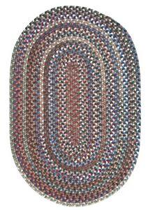 Oak Harbour Dusk Multi Variegated Wool Country Farmhouse Oval Braided Rug