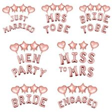 Hen Party Team Bride Mrs To Be Rose Gold Foil Balloons Foil Latex Helium Engaged