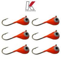 Tungsten Jig 6 Pack 6mm - #8 Hook Orange GLOW