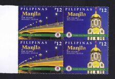 2021 Philippines 450th year City of Manila Blocks of 4 mint NH