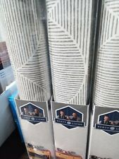 Scott Living Quinn Cream Self-Adhesive Peel WallPaper x3