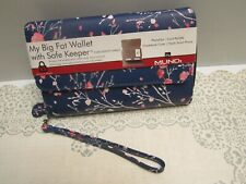 Mundi® My Big Fat Wallet Wristlet NWT ID SAFE KEEPER Cherry Blossom Print $44