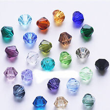 1000pcs MIX Glass Crystal Faceted Bicone Beads 6mm Spacer Jewelry Findings