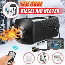 8KW 12V Diesel Air Heater LCD Thermostat Quiet Trucks Boat Car Trailer + Control