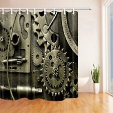 Punk style steam gear Shower Curtain Bathroom Decor Waterproof Fabric & 12hooks
