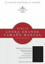 RVR 1960 Biblia Letra Grande Tamaño Manual, Negro Imitación Piel Con índice...