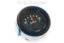 Ammeter  Amp Meter 52mm 30-0-30 Black Bezel Gauge