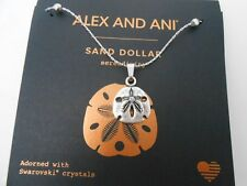 Alex and Ani Sand Dollar III Expandable Necklace Rafaelian Silver