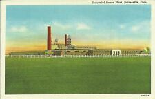OLD VINTAGE INDUSTRIAL RAYON PLANT IN PAINESVILLE OHIO LINEN POSTCARD