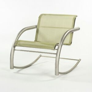 Prototype Richard Schultz 2002 Collection Stainless Mesh Cantilever Rocker Chair