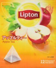 Lipton Apple Flavoured 12 Pyramid Tea bags x 1 From Japan