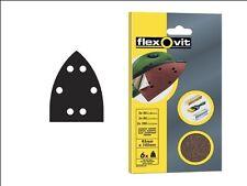 Flexovit Detalle Sander Hojas de 95mm X 145mm-almohadillas de lijado-gancho y bucle de vuelta