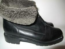 BLONDO ankle BOOTS size 42 / 8 Black waterproof Genuine Shearling Made in CANADA