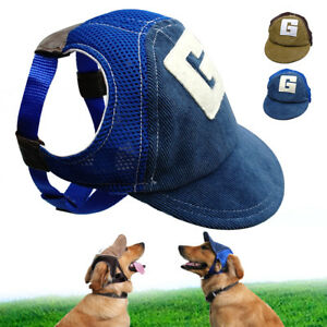 Dog Hat Summer Baseball Dog Sun Hat Cap With Ear Holes for Small Large Dogs Blue