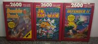 LOT OF THREE GAMES FOR ATARI 2600/7800/ BRAND NEW VINTAGE RARE NOS OPEN BOX #28