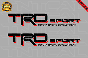 Toyota TRD SPORT Decal Set 2006-2011 Tacoma Tundra Truck Vinyl Sticker black/red